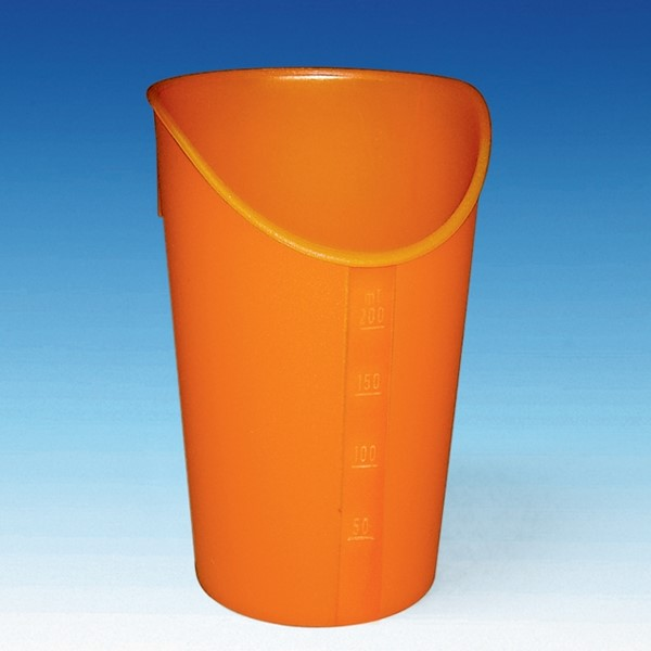 Picture of  Trinkbecher mit Nasenausschnitt orange 200 ml
